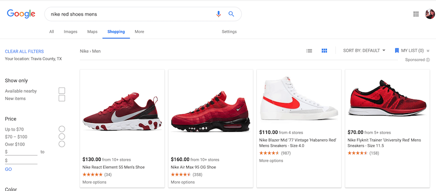 """Instead of """"Nike red shoes"""", being more specific is better in the long-run."""