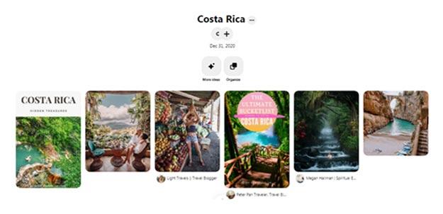 Leveraging Pinterest - supporting screenshot