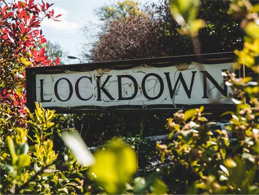 Lockdown signpost