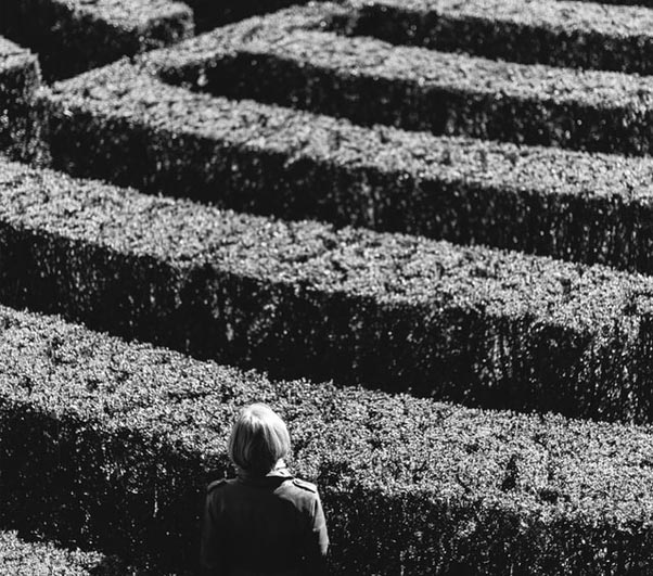 Woman in a maze